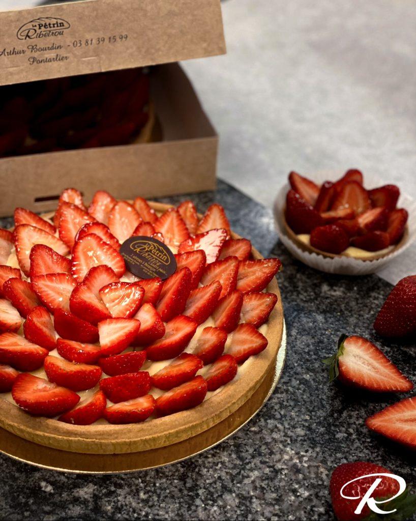 Tarte aux fraises Pétrin Ribeïrou Besançon et Pontarlier